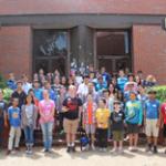 A group shot of codeathon participants