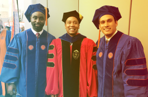 HCC Ph.D. graduates with Dr. Gilbert