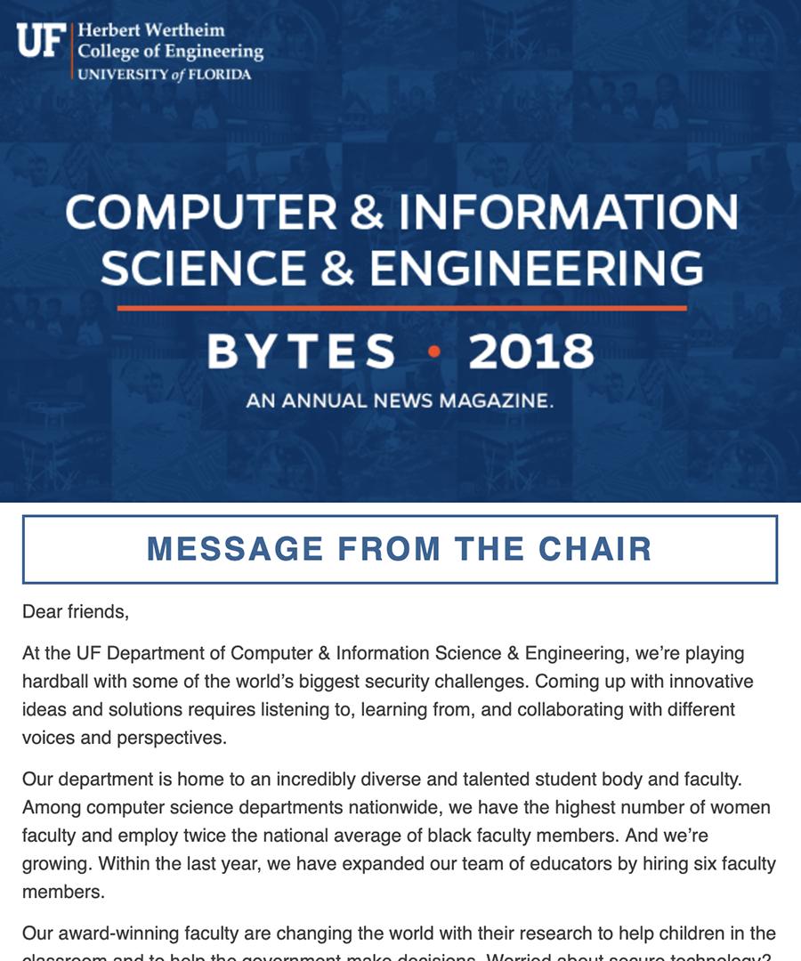 CISE 2018 Newsletter