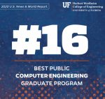 Computer Engineering Graduate Program Ranks No. 16 Among Public Institutions