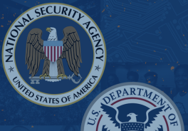 Seals of the National Security Agency and the Department of Homeland Security