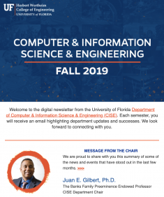 CISE Fall Newsletter, 2019