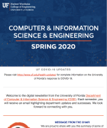 CISE Spring Newsletter, 2020