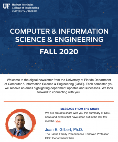 CISE Fall Newsletter, 2020