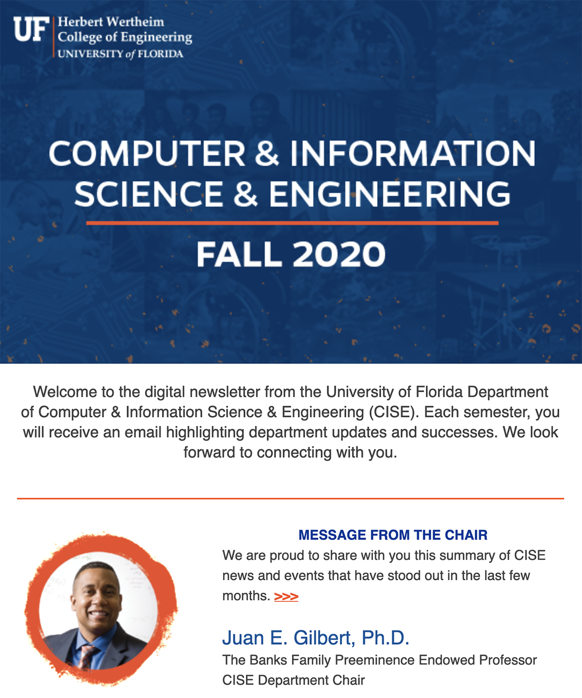 UF CISE Fall 2020 Digital Newsletter