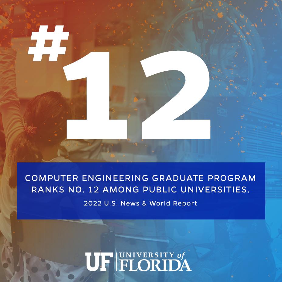 Computer Engineering Graduate Program Ranks No. 12