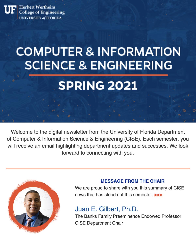 UF CISE Spring 2021 Digital Newsletter