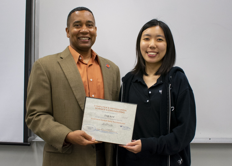 CISE Chair Juan E. Gilbert with Jing Low.
